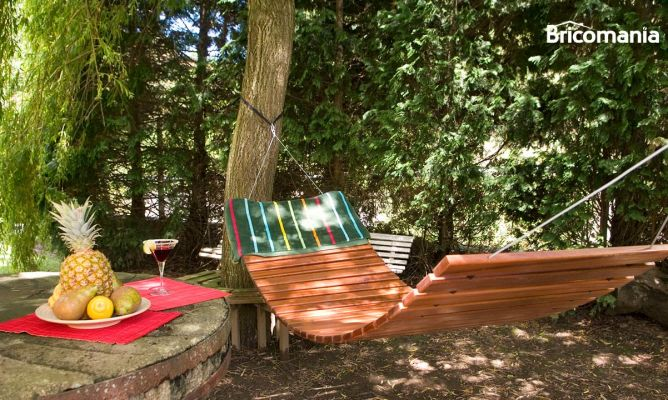 Construye una hamaca con listones de madera bricoman a - Estructura hamaca ...