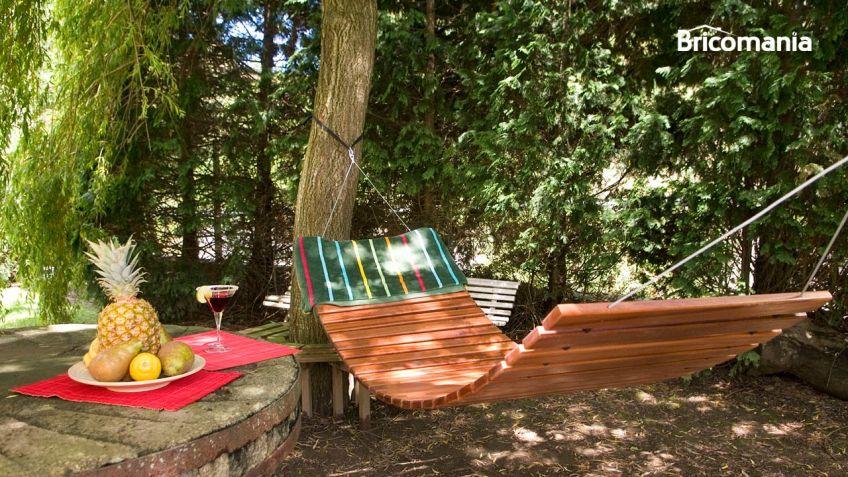 construye una hamaca con listones de madera bricomana - Hamacas De Madera