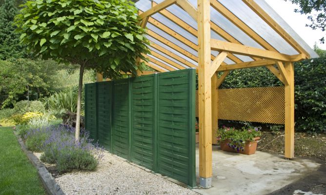 Paneles de ocultaci n bricoman a - Paneles madera jardin ...