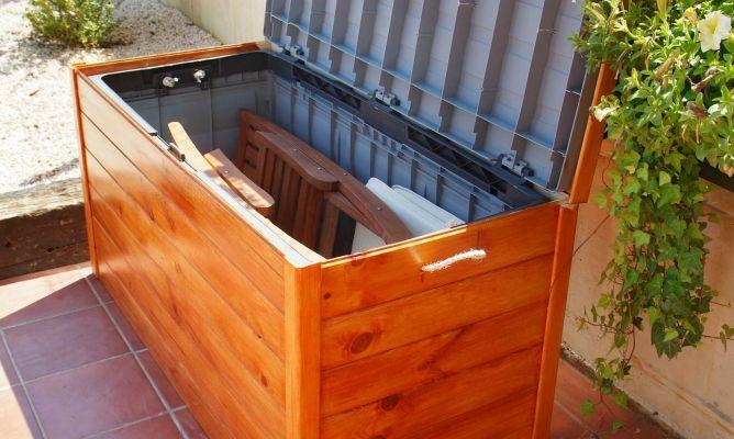Ba l para la terraza bricoman a - Baules baratos madera ...