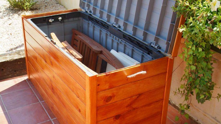Decorar baules de madera affordable bal de madera para - Baul plastico jardin ...