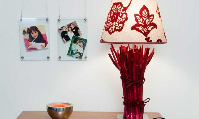 L mpara de mesa personalizada bricoman a - Como hacer una lampara de pie ...