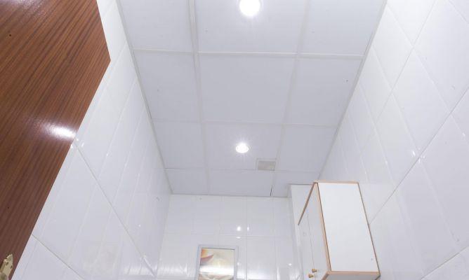 Falso techo para l mparas bricoman a - Como colocar pladur en techo ...