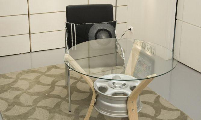 Manualidades Con Muebles Viejos : Mesa de centro reutilizando una llanta coche bricomanía