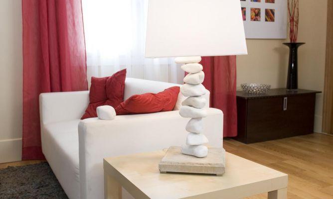 L mpara de mesa original bricoman a - Como hacer una lampara de pie artesanal ...