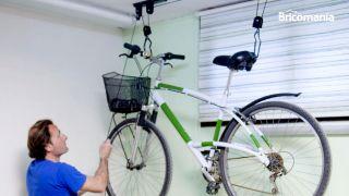 Elevador de bicicletas para el garaje