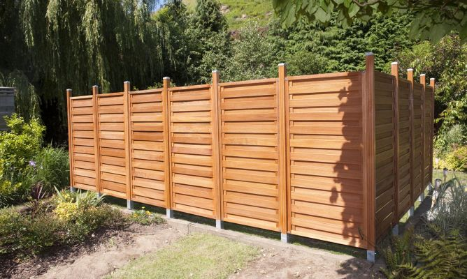 Valla para el jard n bricoman a - Paneles madera jardin ...