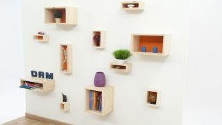 Composición de cajas suspendidas