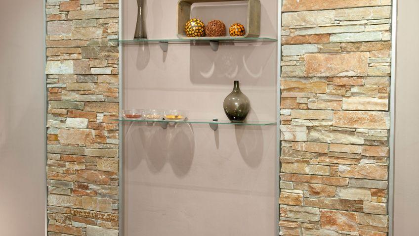 Piedras para paredes patrn de piezas de piedra natural - Piedra decorativa interior ...