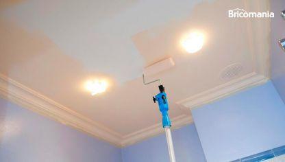 Pintar techo de yeso laminado y molduras de poliestireno - Como pintar un techo ...