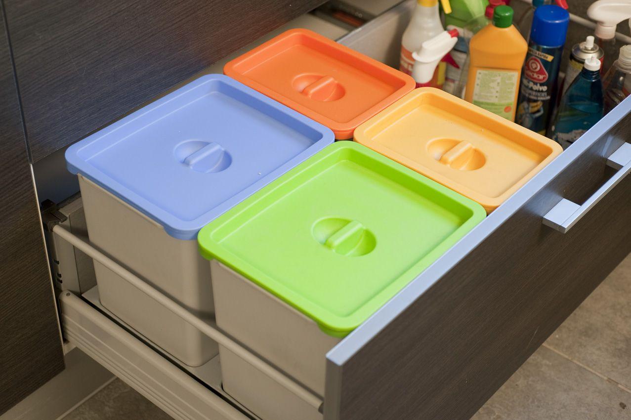 Adaptar papelera de reciclaje