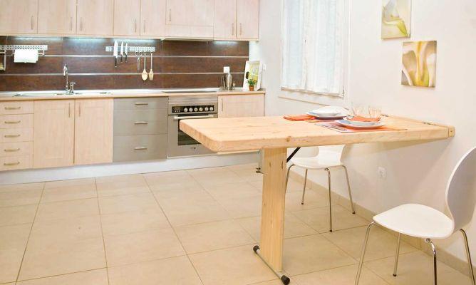 Mesa abatible bricoman a - Mesa plegable pared cocina ...