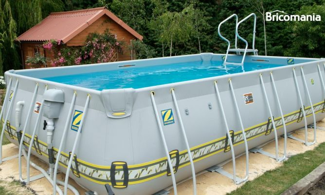 Piscina desmontable bricoman a for Piscina desmontable rectangular 3x2