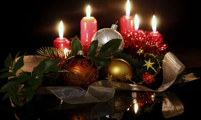 centros con velas para navidad hogarmania