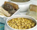 Cocido de garbanzos con su sopa de fideos