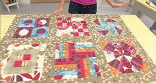 Quilt o colcha de patchwork - Bloque final