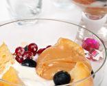 Dulce de leche con magdalenas y helado