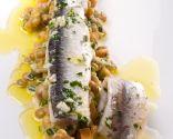 Ensalada de lentejas con anchoas marinadas