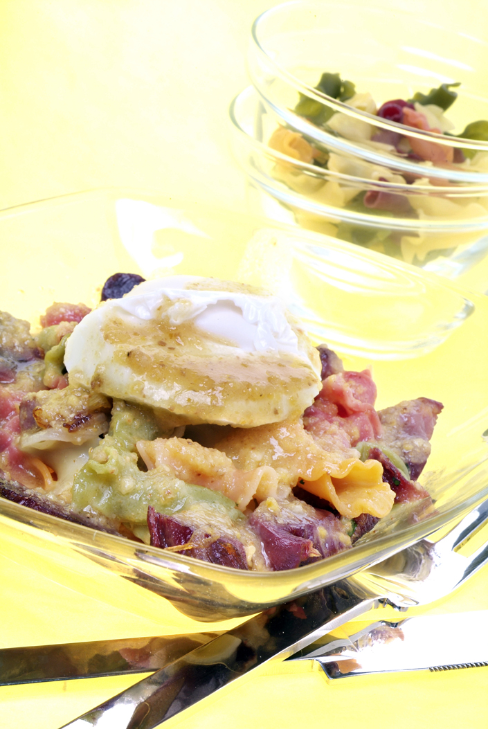 Ensalada de mollejas y pasta