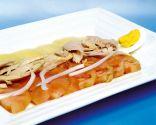 Ensalada de patata, huevo, tomate y atún