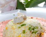 Ensalada de arroz y bonito con porra