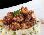Ensalada de arroz con pulpo