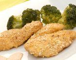 Escalopines de pollo con palomitas