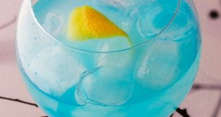 Cóctel Gin lemon blue (cóctel con alcohol)