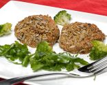 Hamburguesas vegetales con ensalada de rúcula y brócoli