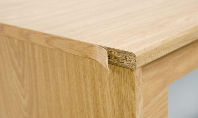 Reparar cajonera con cinta de cantear bricoman a - Pasta para reparar madera ...