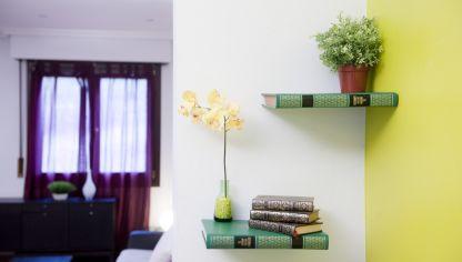 Colocar baldas hogarmania - Baldas decorativas pared ...