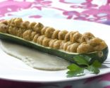 Calabacín relleno con crema de tortilla