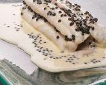 Receta de lenguado al champán con caviar