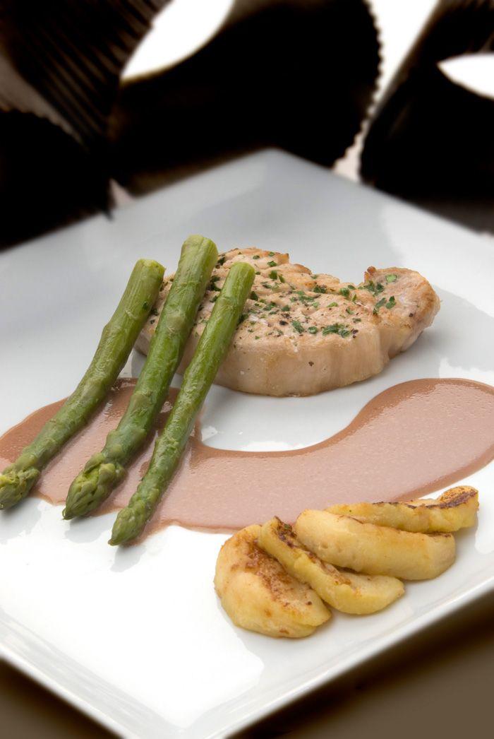 Lomo de cerdo con salsa de oporto