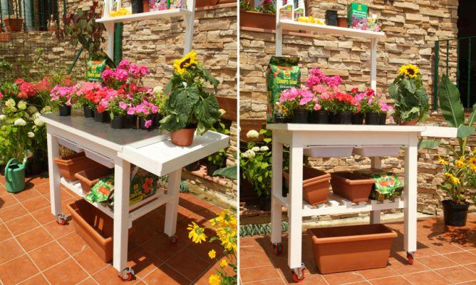 Mesa de jardiner a bricoman a - Bricomania jardineria ...
