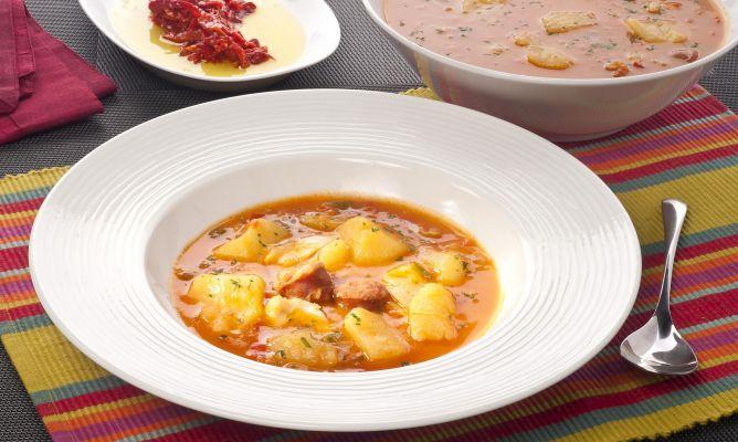 Receta de patatas con bacalao a la riojana bruno oteiza for Cocina bacalao con patatas