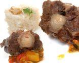 Rabo con pisto y arroz