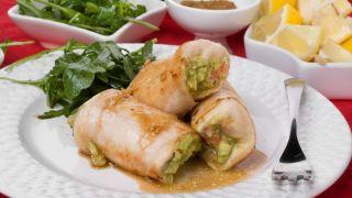 Rollitos de pollo con guacamole