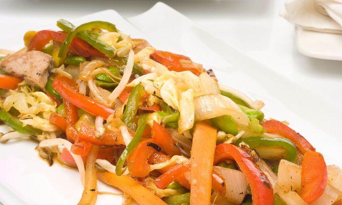 receta verduras wok
