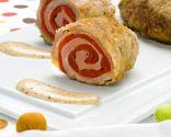 Solomillo relleno con salsa de mostaza