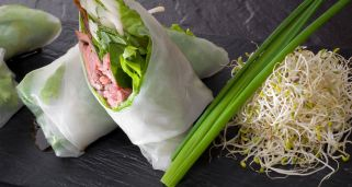 Spring roll de papel de arroz