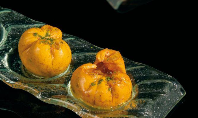 Receta de yema erizos y algas juan mari arzak for Tecnicas de alta cocina