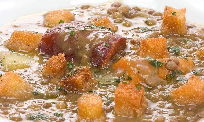 Receta de lentejas con patatas bruno oteiza - Lentejas con costillas y patatas ...