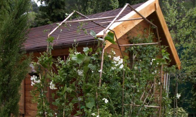 Arco para enredaderas bricoman a - Arcos de madera para jardin ...