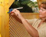 Proteccion con celosia de madera
