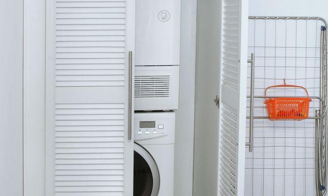 Columna de lavado bricoman a for Mueble lavadora exterior
