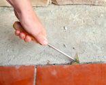 Arreglar grieta en suelo exterior
