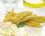 Huevos fritos con patatas fritas
