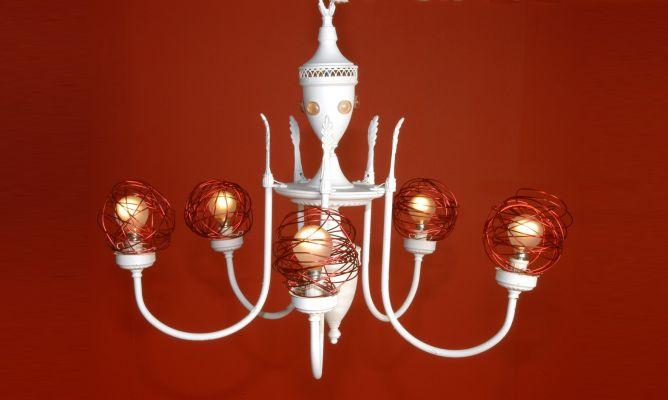 Modernizar una l mpara ara a decogarden - Pintar lamparas de techo ...