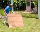 paso despus colocamos una rejilla de madera en el suelo as evitaremos resbalarnos cuando hagamos uso de ella